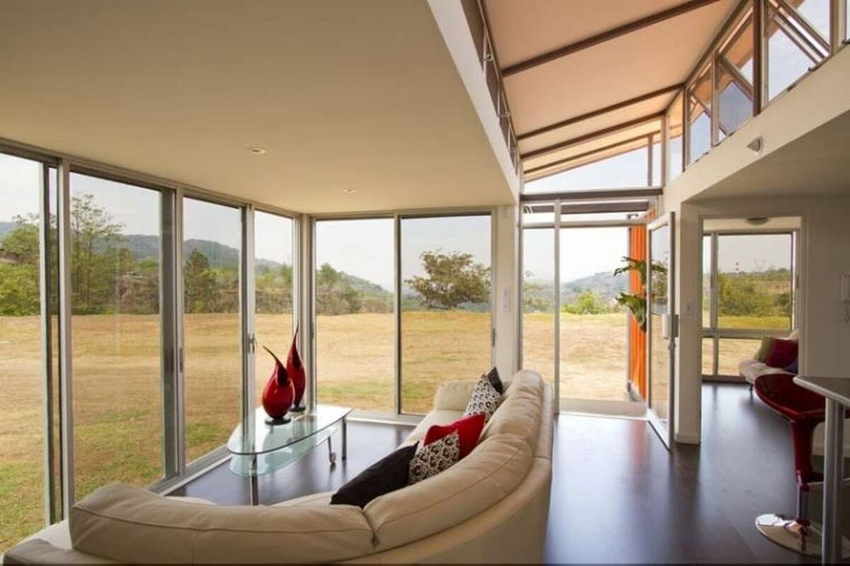 The container home would be about 800 square feet and would cost about $50,000 to construct.
