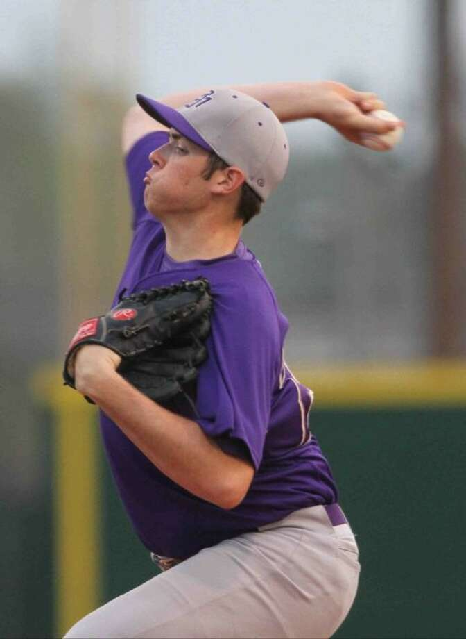 Montgomery pitcher Collin Garrett was 6-0 with a 1.01 ERA in 34 2/3 District 18-4A innings. Photo: Staff Photo By Jason Fochtman