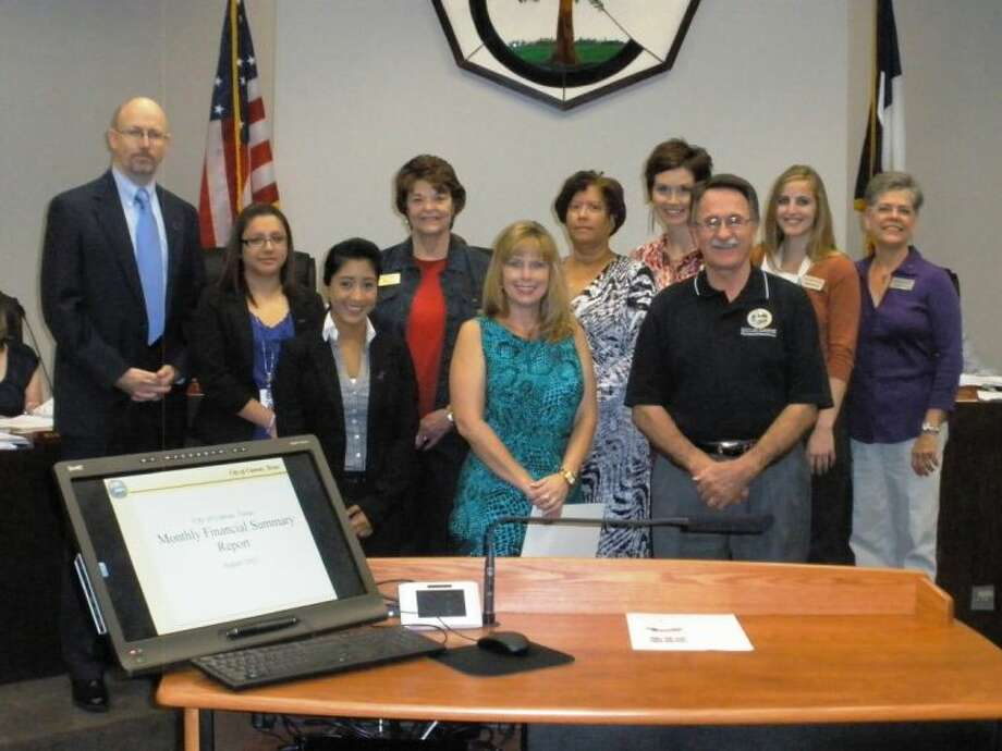 Conroe Mayor Webb Melder issued a proclamation declaring October as Domestic Violence Awareness Month in Montgomery County. This special event started the monthlong campaign to raise awareness of the issue of domestic violence. Several members of the board of directors and staff were on hand at the City Council meeting Sept. 27 as the proclamation was read into the record.