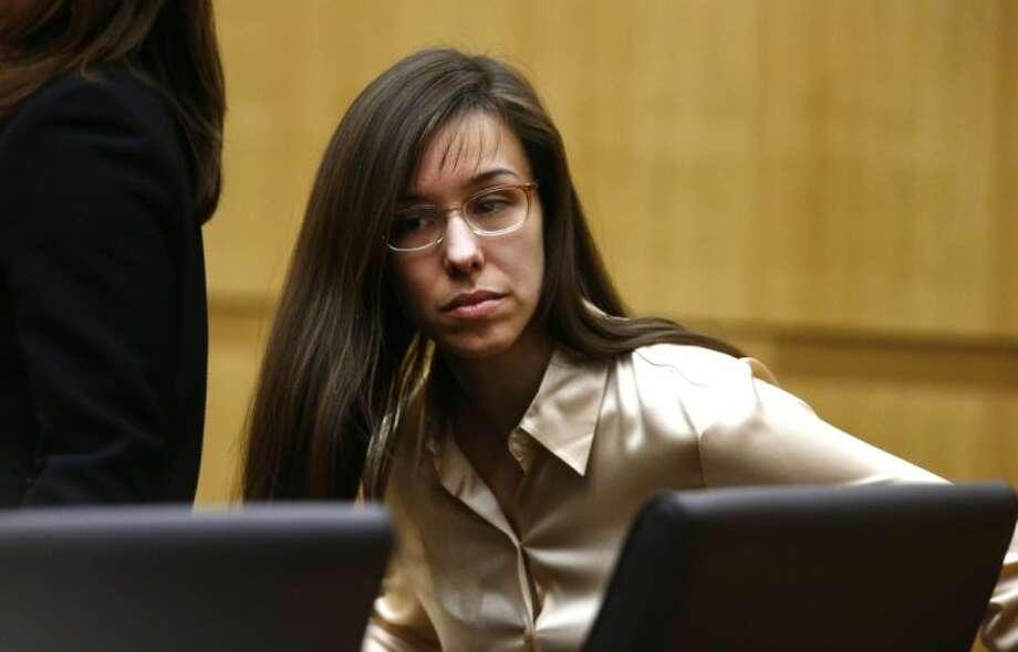 Jodi Arias appears for the sentencing phase of her trial at Maricopa County Superior Court in Phoenix Wednesday. Photo: Rob Schumacher