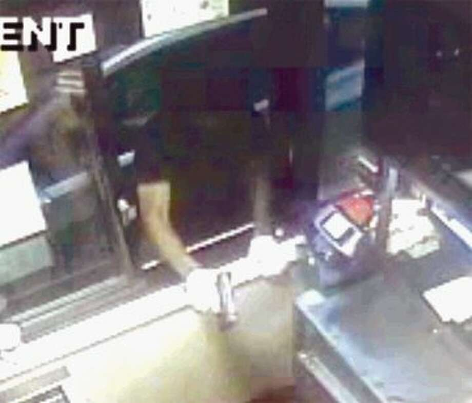 Police released this video still image of the robbery at the McDonald's in Panther Creek in The Woodlands. The Montgomery County Crime Stoppers are offering a $1,000 cash reward for any tips that lead to an arrest or an indictment.