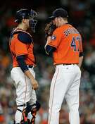 With Astros manager A.J. Hinch treating every game as if it were the postseason, he has relied on his bullpen, like reliever Chris Devenski, right, to log a huge number of innings in September.