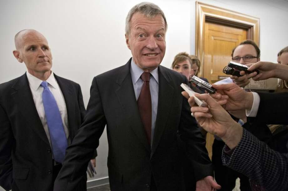 Senate Finance Committee Chairman Sen. Max Baucus, D-Mont. leaves his committee office on Capitol Hill in Washington, Tuesday, saying that he was going to speak to the news media in his home state of Montana before discussing his retirement from the Senate. Photo: J. Scott Applewhite
