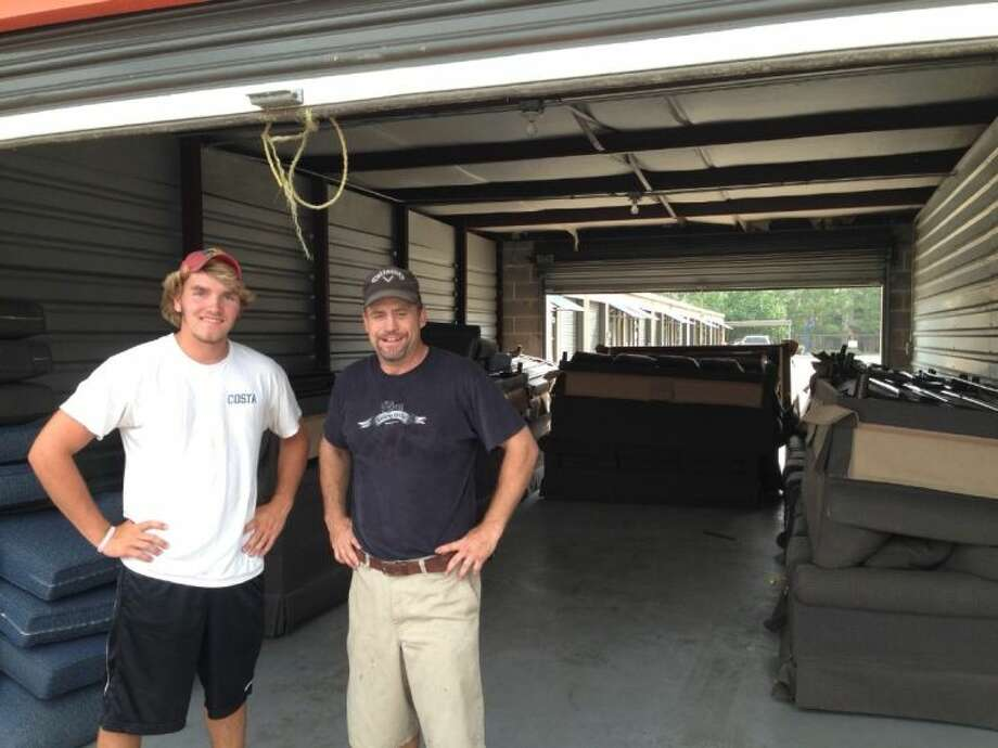 Josh Bensema and Matt Leftwich delivered furniture to the Montgomery County Homeless Center recently.