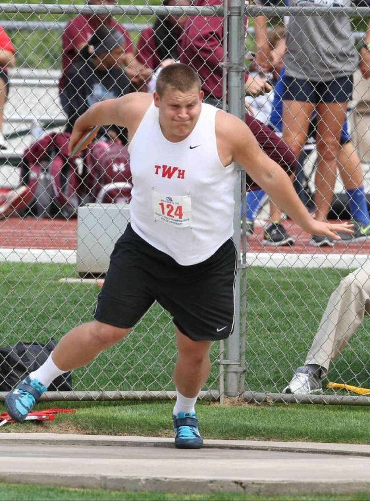 The Woodlands' Jonathan Huckins will compete in the shot put at this weekend's UIL State Track and Field Championships.
