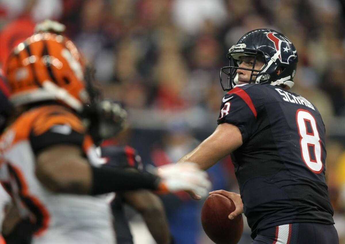 Texans quarterback Matt Schaub will be tested in AFC divisional play on the road against the Patriots.