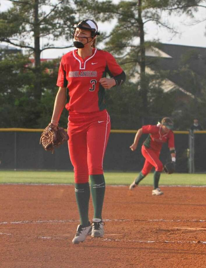 Lady Highlanders pitcher Abby Langkamp is 18-3 with a 1.37 ERA this season. She also has a .403 batting average and 31 RBI. Photo: Staff File Photo By Jason Fochtman