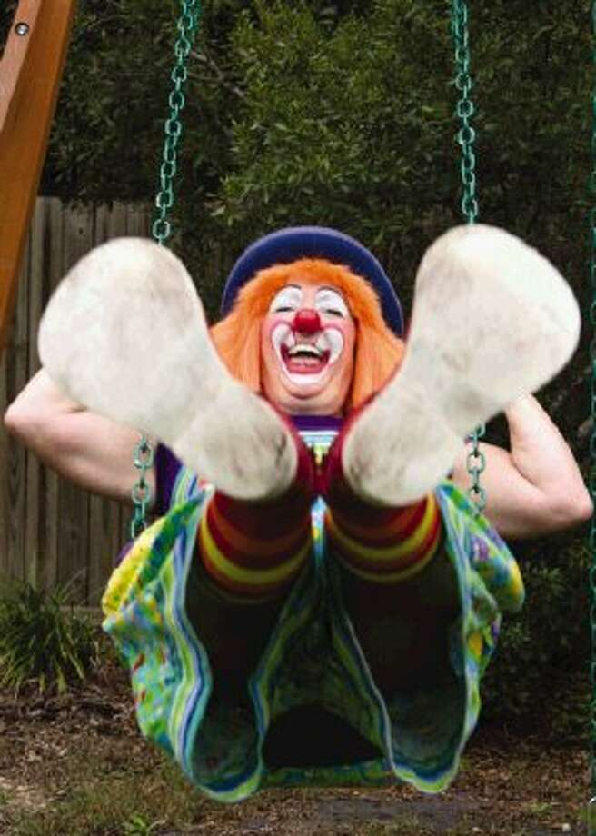 Becky Deltenre, a Conroe resident, dresses as Skeeter the clown for fun and as a second job. She works as the children's director at the Community Christian Church in The Woodlands and has found that dressing as a clown is a good way to connect with children. Go to HCNPics.com to view and purchase this photo and others like it. Photo: Ana Ramirez / The Conroe Courier