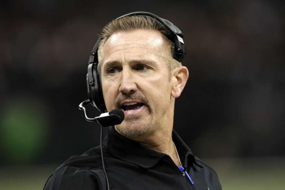 First-year Saints defensive coordinator Steve Spagnuolo was fired on Thursday. Photo: Matthew Hinton
