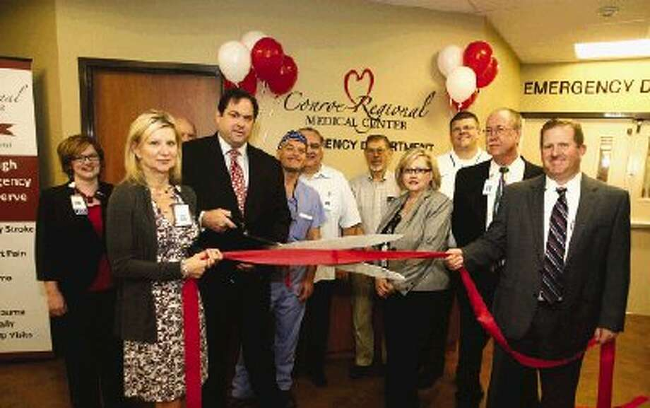 Hospital staff and administrators had a ribbon-cutting ceremony for the new emergency room at Conroe Regional Medical Center Thursday.