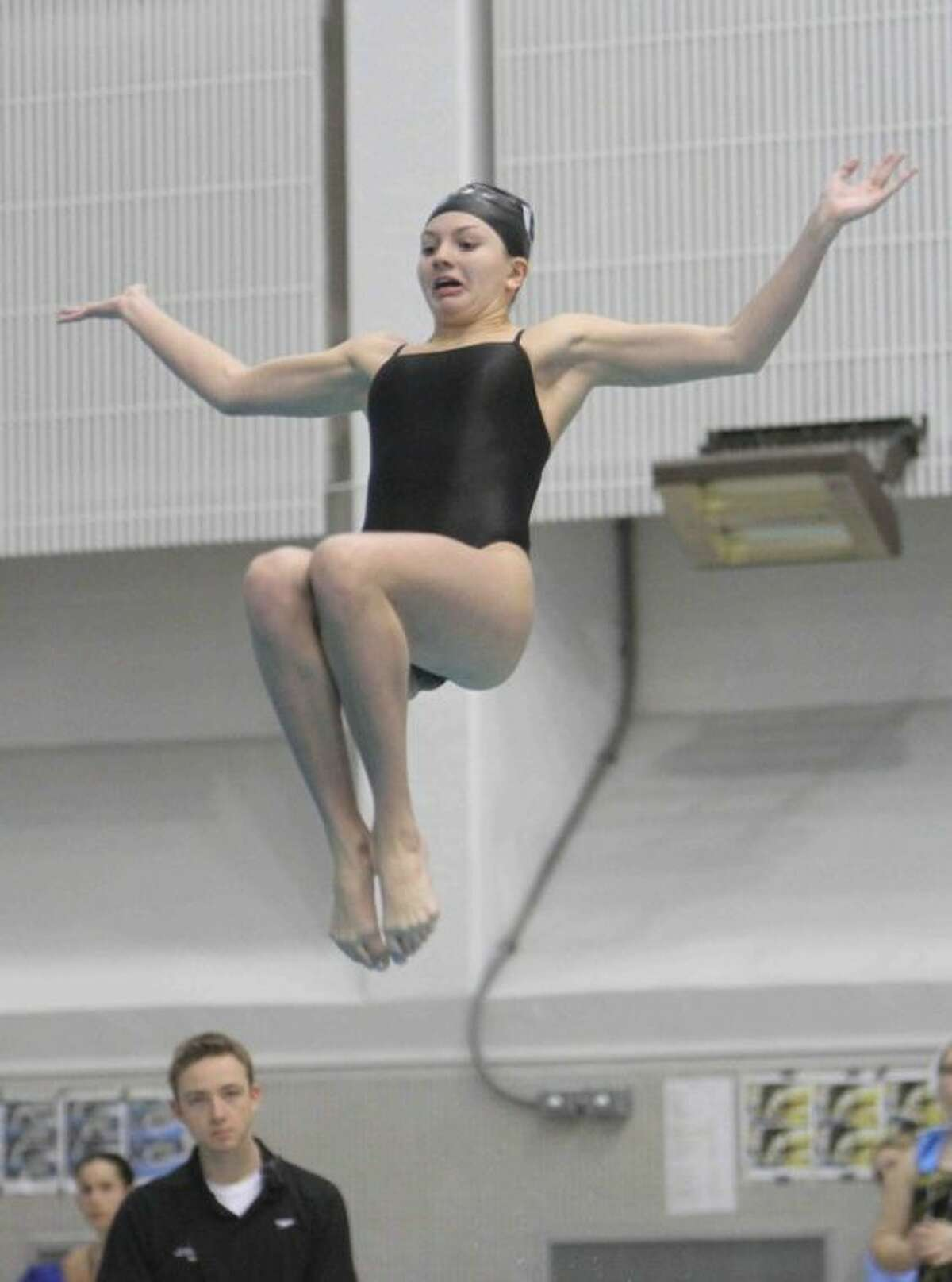 Willis' Chloe Helmink finished second in the Class 4A finals of the 1-meter diving competition during the UIL State Swimming and Diving Meet.