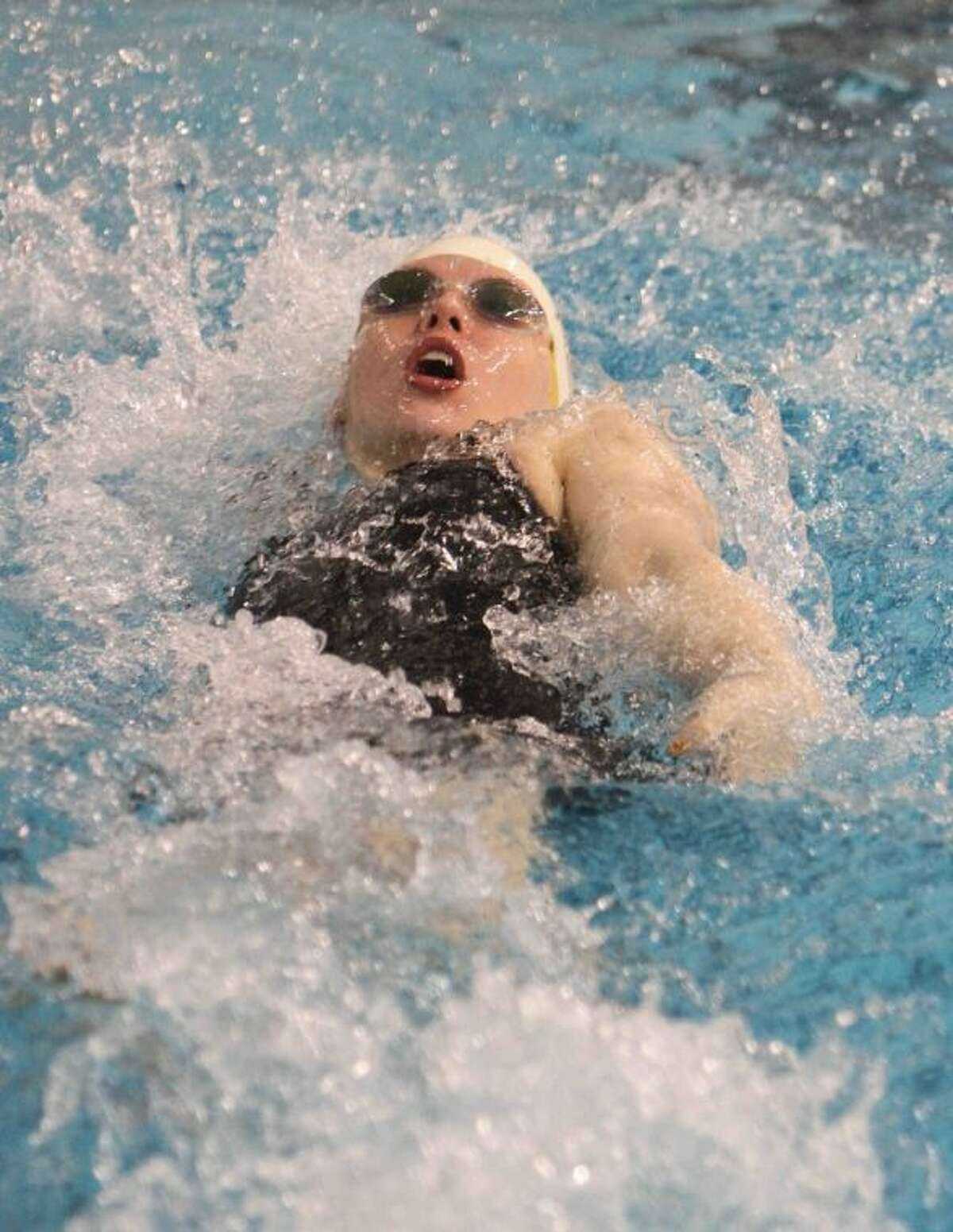 Magnolia West's Jessica Sloan finished fifth in the Class 4A championship finals of the girls 200-yard individual medley during the UIL State Swimming and Diving Meet.