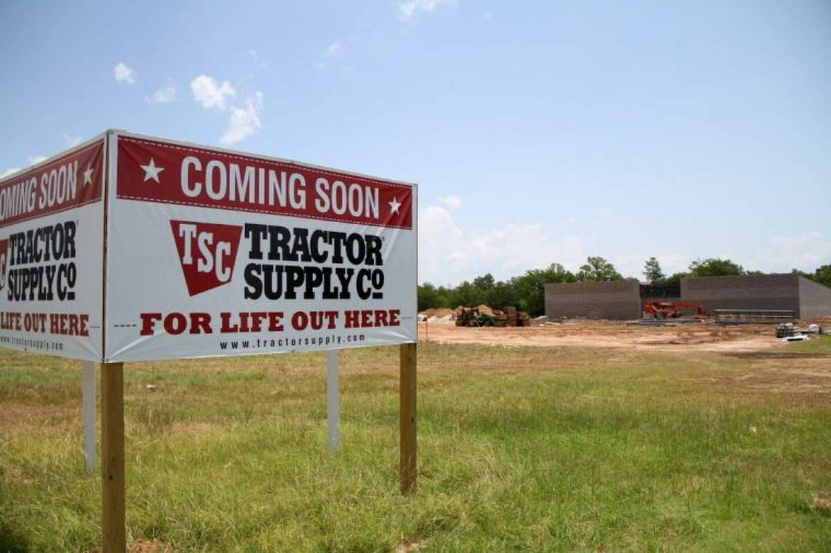 Construction continues on the new Tractor Supply Company store on Buddy Riley Blvd. in Magnolia. The company broke ground on the new location in June and is expected to open in late October.Photo by MARY MCKAY/The Potpourri