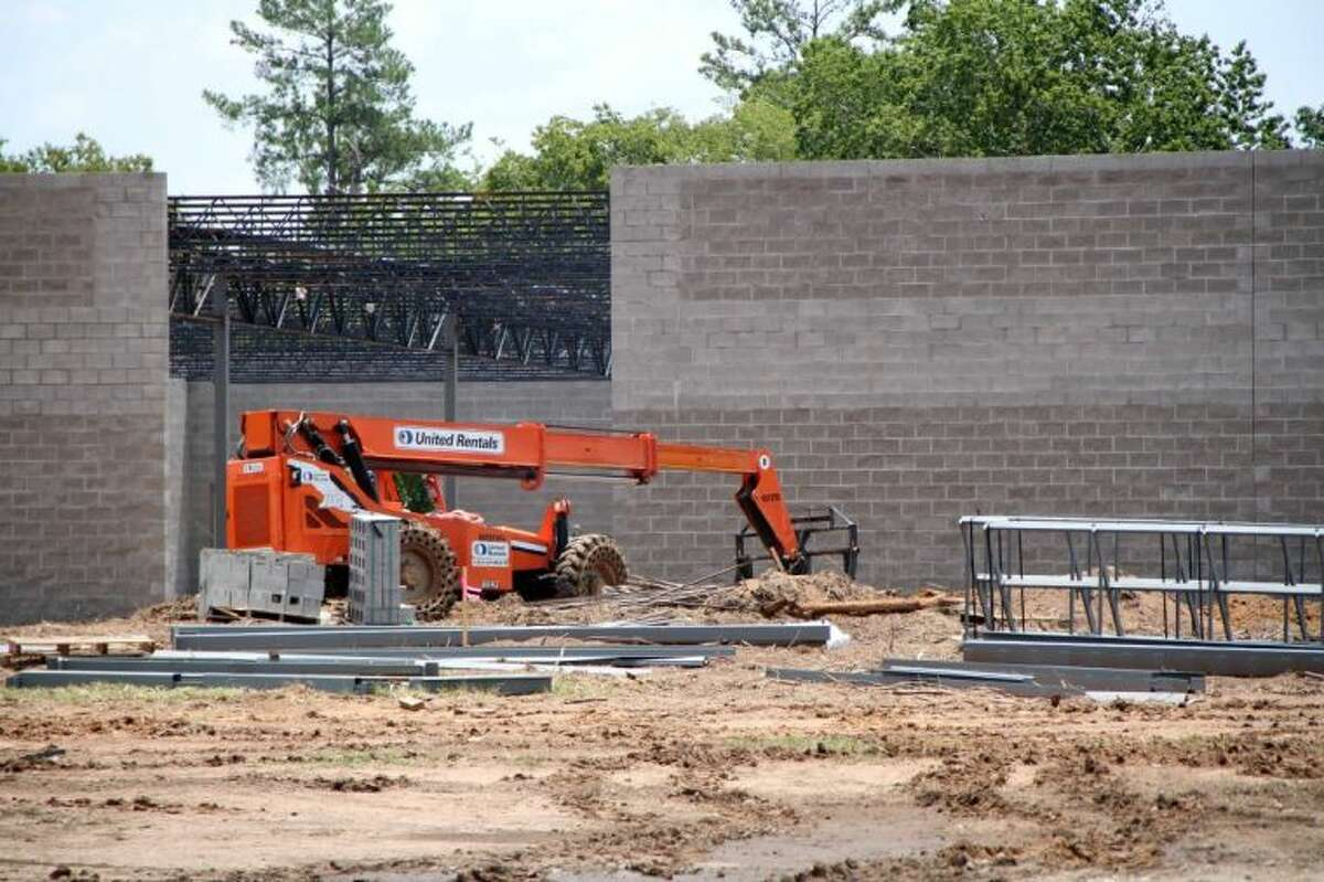 Construction continues on the new Tractor Supply Company store on Buddy Riley Blvd. in Magnolia. The company broke ground on the new location in June and is expected to open in late October.
