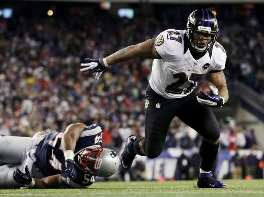 Ravens running back Ray Rice has reached the playoffs every year since joining the team in 2008. Photo: Matt Slocum