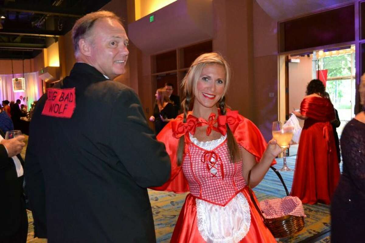 Danny and Tammy Schroder, of Amegy Bank, dress as the Big Bad Wolf and Little Red Riding Hood at the 35th Annual Chairman's Ball.