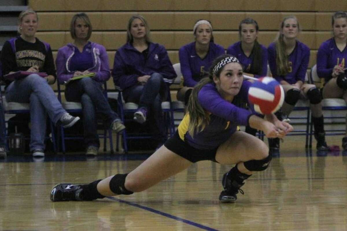 Kellyn Reeves and Montgomery will face Pflugerville Connally in the Class 4A volleyball playoffs at Bryan Rudder High School.