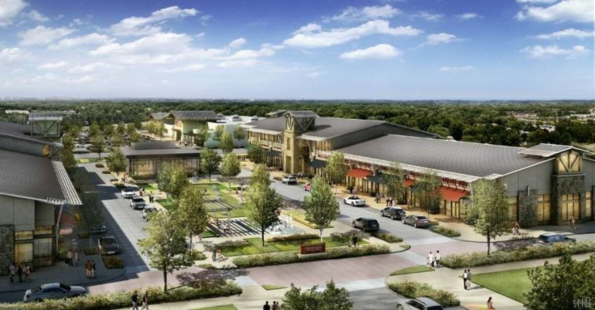 An artist's rendering of the new Creekside Park Village Center, including the fourth H-E-B store in The Woodlands. Now in development, this will be the seventh village shopping center in The Woodlands.