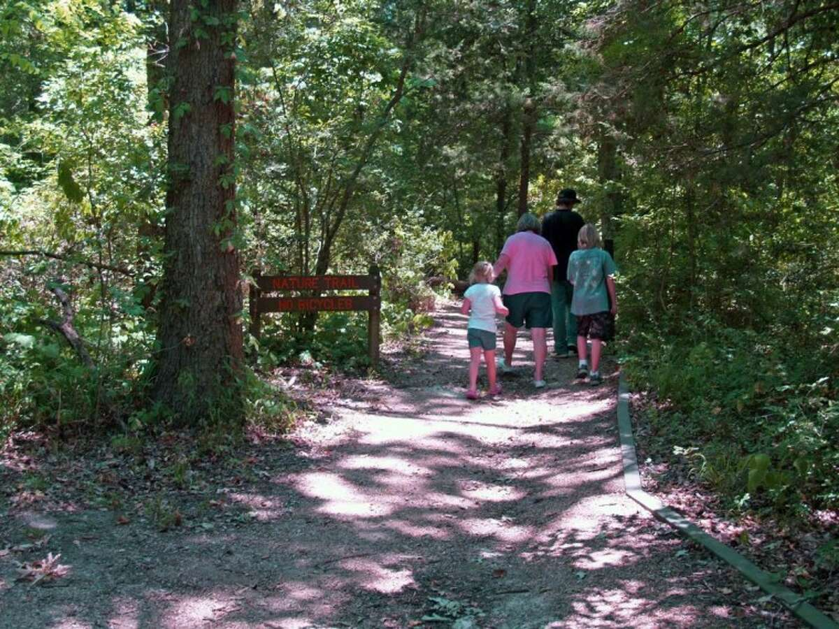 My wife, three grandchildren and I explored a nature trail at Fort Parker State Park last week.