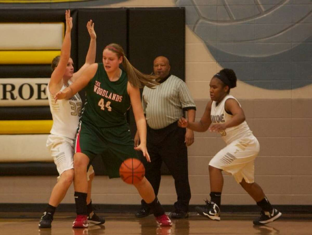 The Woodlands' Kelsey Lang scored a game-high 16 points against Conroe on Tuesday night. For more photos from this game, visit HCNpics.com.
