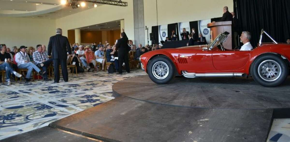 The Houston Classic Auction hosted hundreds of vintage automobiles, including this 1966 Shelby 427 Cobra CSX3264, formerly owned by Rod Stewart and Jan and Dean.