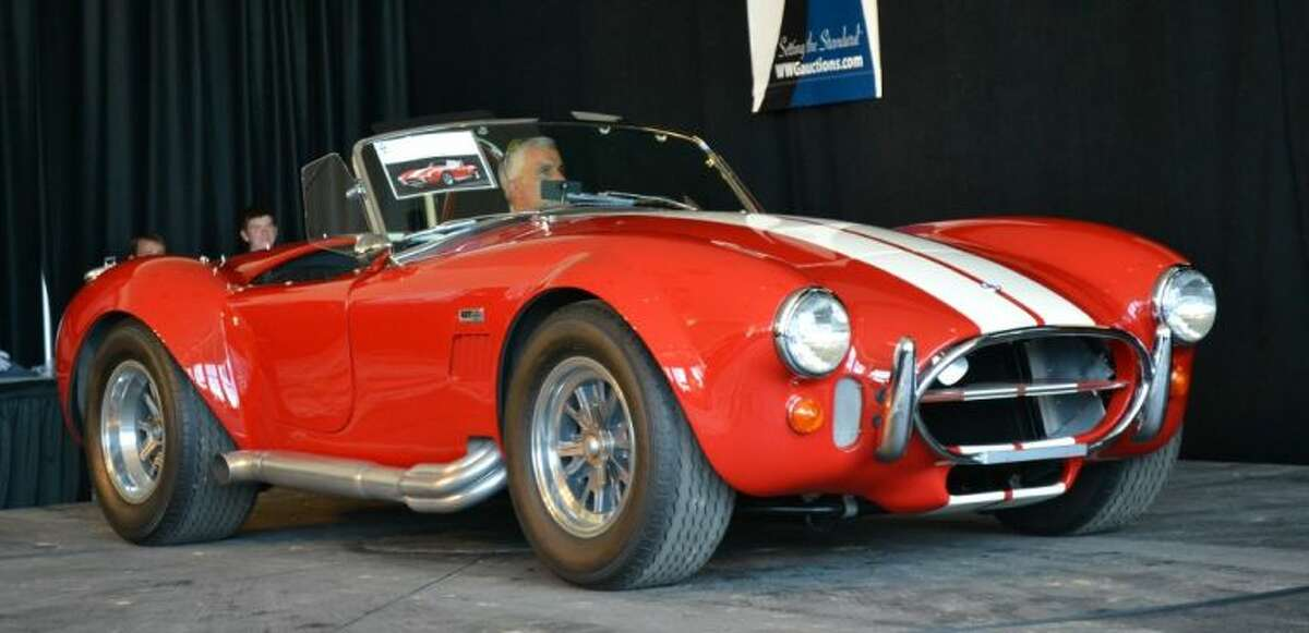 This 1966 Shelby 427 Cobra CSX3264, formerly owned by Rod Stewart and Jan and Dean, had a bid of $950,000 with a deal pending at $1 million at press time.
