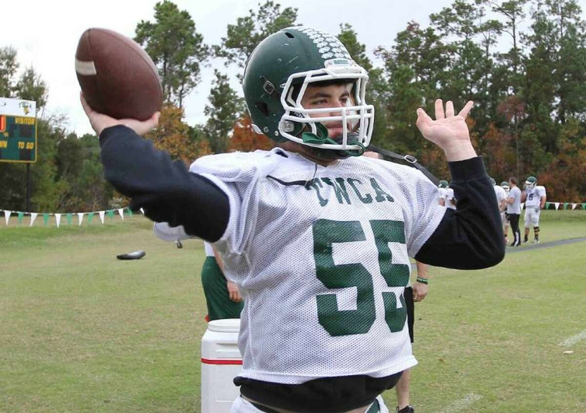 The Woodlands Christian senior Michael Sacks has completed 30 of 46 passes for 513 yards and two touchdowns with no interceptions since taking over at quarterback in the seventh game of the season.