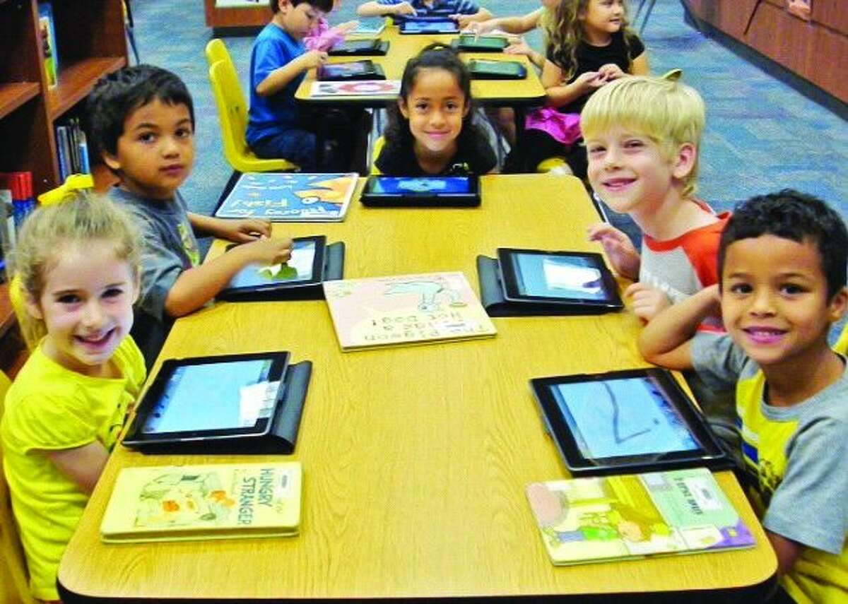 The pre-kindergarten, kindergarten and first-grade students will use iPads for storytime on June 18 at Glen Loch Elementary, while grades 2-4 will do the same on June 25.