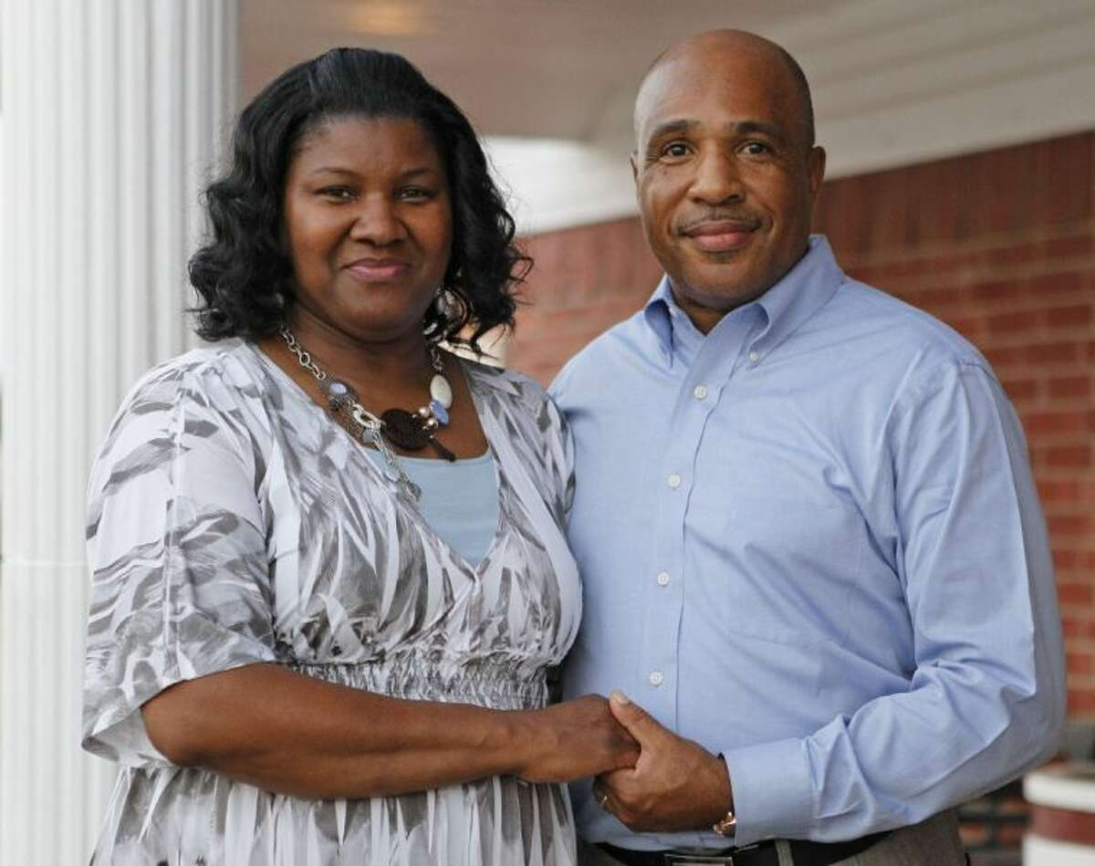 Pastor Percy Thompson and his wife Verlillian Thompson are photographed in Forest Hill, on Aug. 4. Percy Thompson is the new pastor at Sweet Home Missionary Baptist Church in Forest Hill. He was pastor of the church where previous pastor Danny Kirk Sr. was murdered last October.