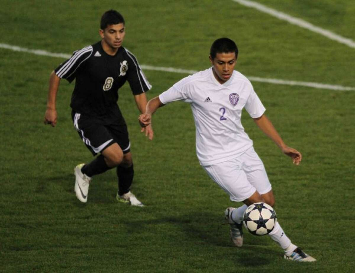 Willis' Guillermo Solano dribbles the ball during a District 39-4A match Wednesday at Berton A. Yates Stadium. To view or purchase this photo and others like it, visit HCNpics.com.