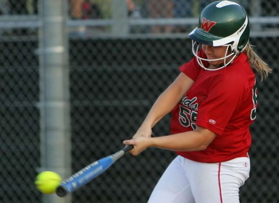 The Woodlands' Paige McDuffee has batted and played first base for the last three weeks, and is expected to return to the circle in a couple more weeks.