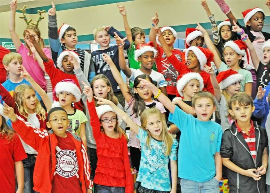 Birnham Woods Elementary Choir members performed holiday carols.