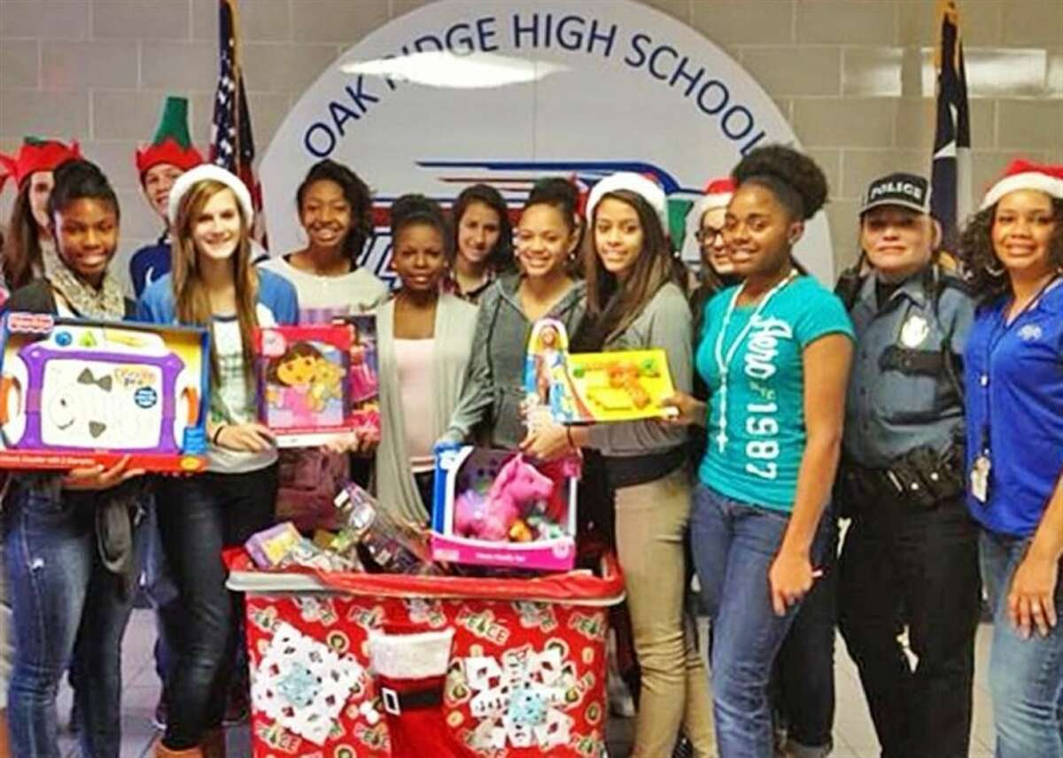 Students at the Oak Ridge High School Ninth Grade Campus helped collect toy donations.