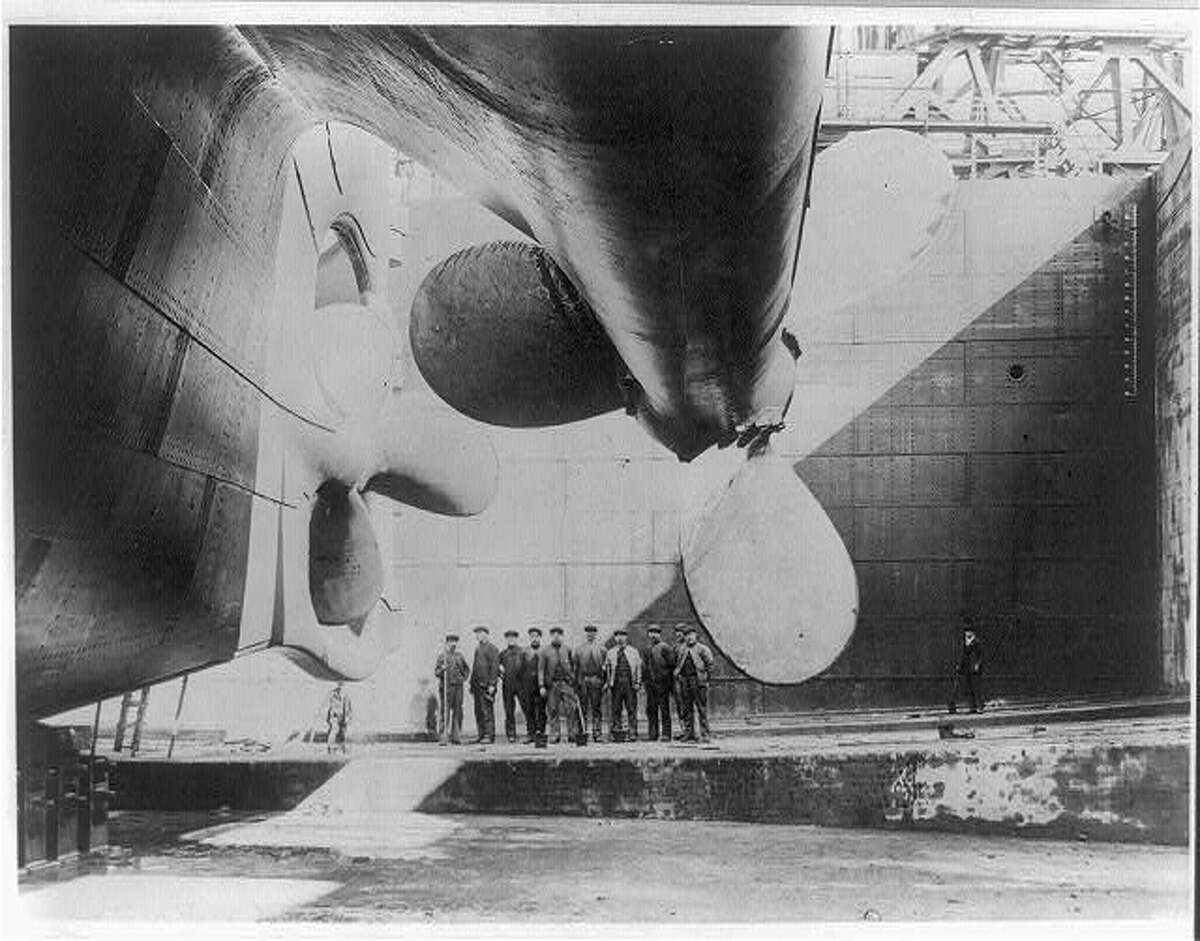 File photo from Library of Congress of the Titanic before it launched. (Repository: Library of Congress Prints and Photographs Division - George Grantham Bain Collection.