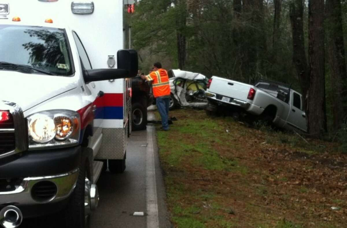 Two people died Friday morning in a head-on collision near Nichols Sawmill Road at Roberts Cemetery Road in Southwest Montgomery County.