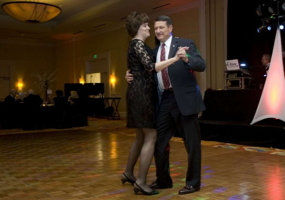 Champ and Virginia Miller enjoy a dance during Saturday's event.