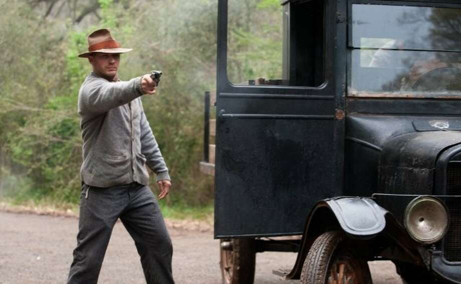 """Lawless"" is set in the world of illegal bootlegging in Prohibition-era Franklin County, Virginia. It features three brothers (LaBeouf, Hardy and Jason Clarke) who run a successful still, and are on top of the world until a corrupt official (Pearce) attempts to try to take his share of their earnings."