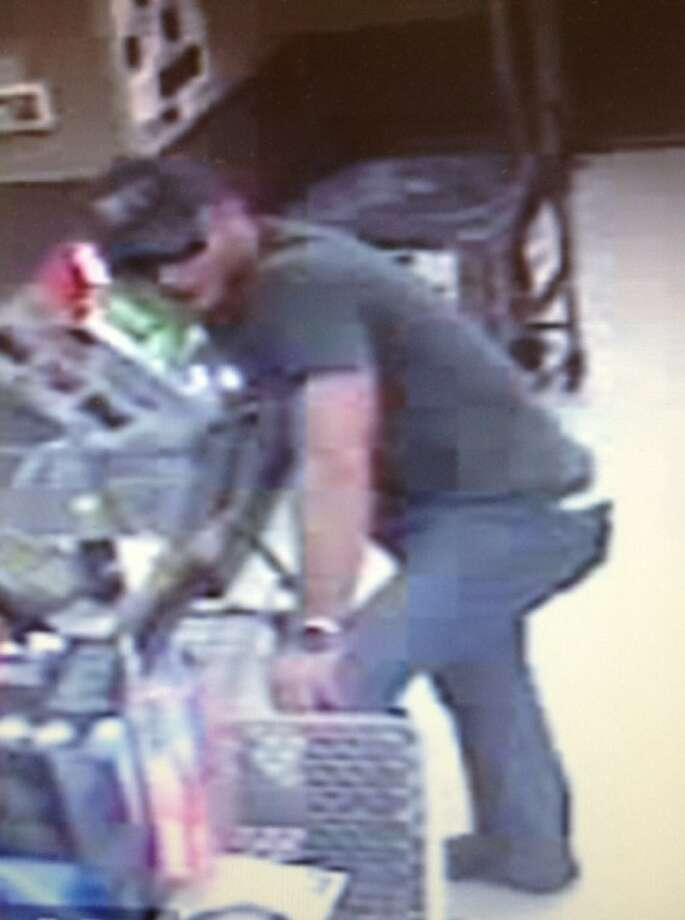 Investigators with the Montgomery County Sheriff's Office are asking for help in identifying two people, shown in these surveillance video stills, believed to be involved with using the identity of a West Montgomery County resident to obtain credit. The car they were driving also is shown.