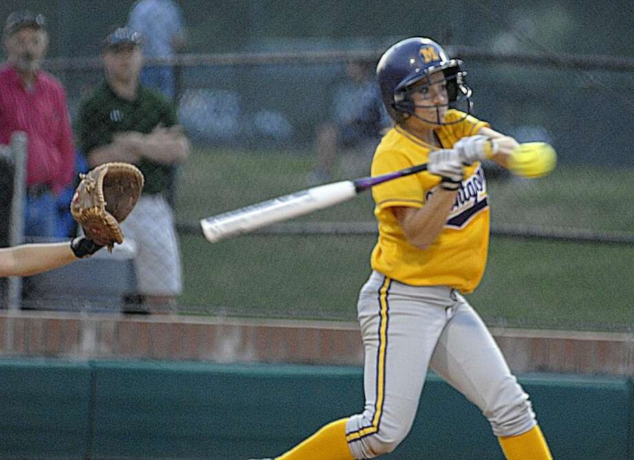 In this file photo Montgomery's Shelbi Tucker bats against Willis in a district game. Tucker, now playing with Sam Houston State, was named the Southland Coference Hitter of the Week on Monday.