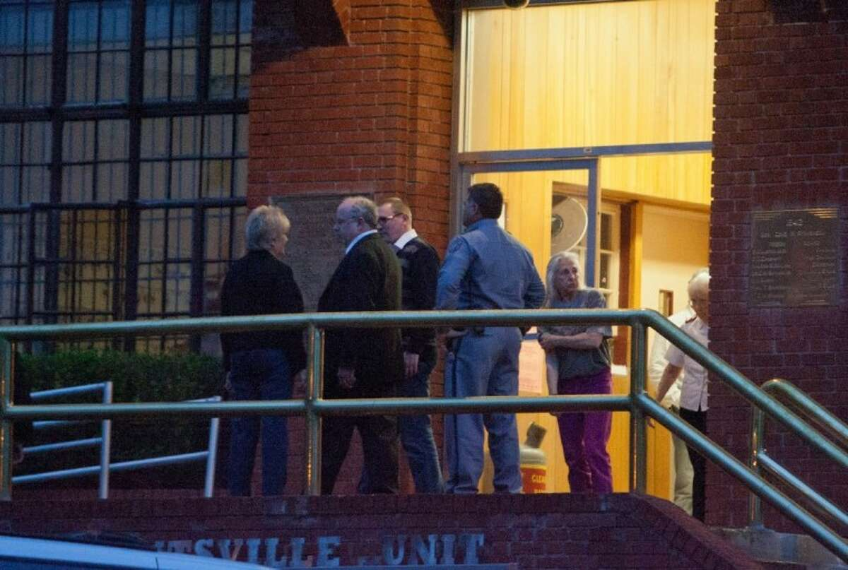 Witnesses leave the Huntsville Unit following the execution of convicted killer Keith Thurmond, 52, on Wednesday in Huntsville.