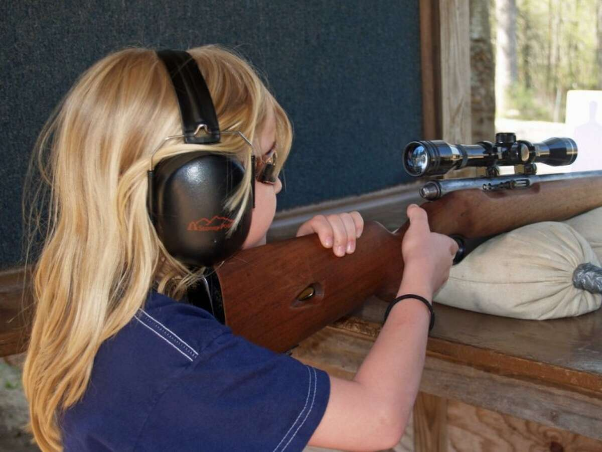 My granddaughter, Megan, started at an early age with a .22 rifle under the strict tutelage of my son.