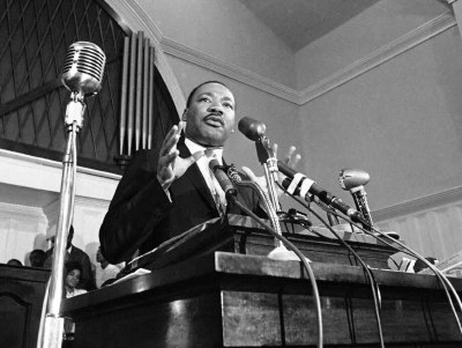 In this 1960 file photo, Martin Luther King Jr. speaks in Atlanta. Photo: STF / AP