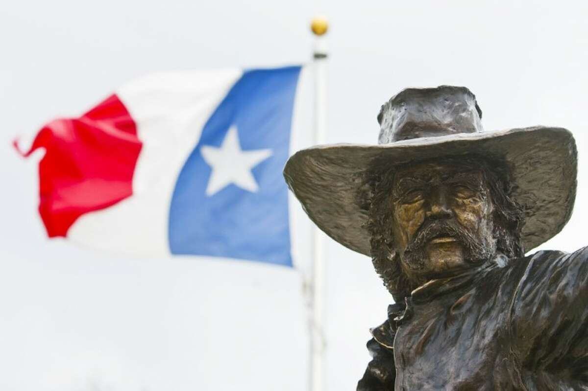 The Texian statue at the Lone Star Monument and Historical Flag Park.