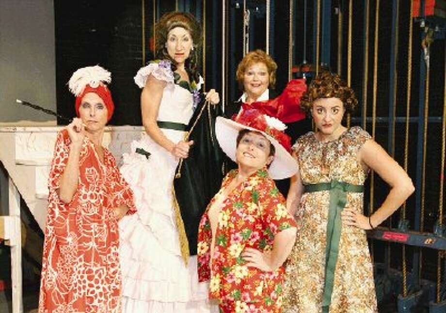 Actresses portraying the legendary comedienne Carol Burnett include, fromleft, Cathleen Reagan, Carolyn Wong, Marcia Feldt Bates, Katie Kelly and Maredith Zaritski.