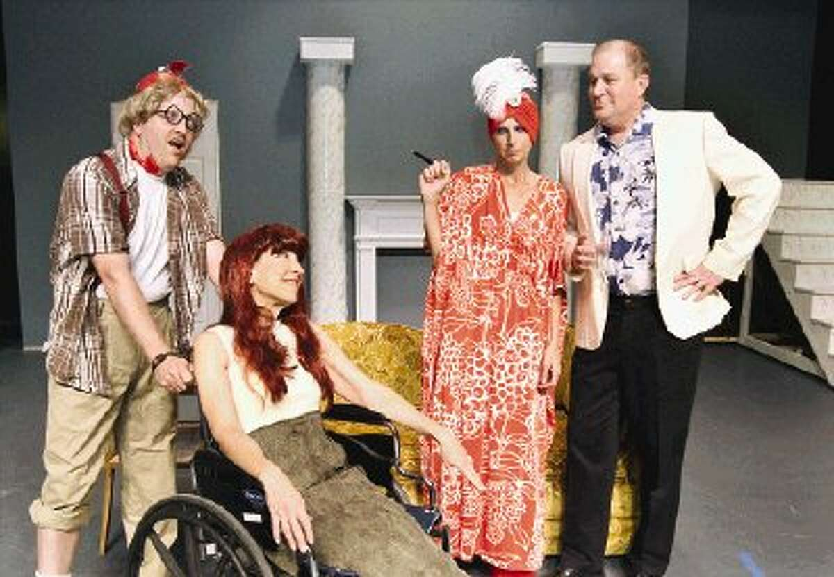 """The Stage Right production of """"The Carol Burnett Show"""" features a variety of humorous skits. Actors include, from left, Jim King, Carolyn Wong, Cathleen Reagan and Tom Richard."""