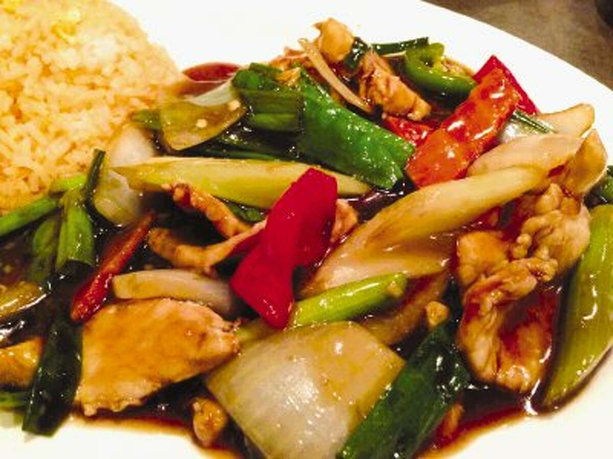 The Lemon Grass Chicken lunch special at Vietopia.