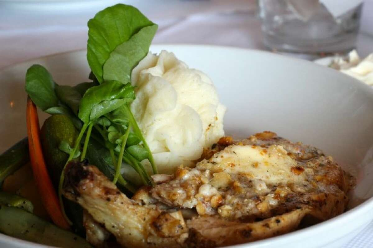 The Chicken Breast with Hazelnut Truffle Butter from Café Rabelais.