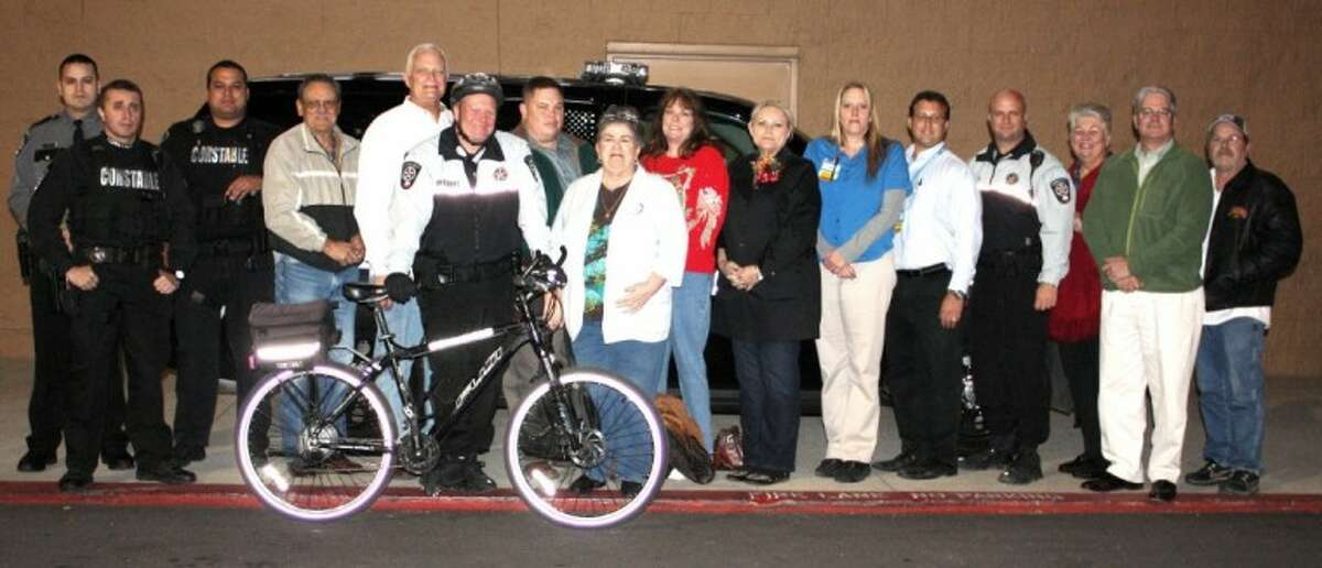 The East Montgomery County Improvement District provided the Precinct 4 Constable's Office with $10,000 last week to fund holiday bicycle and cruiser patrols in Porter shopping areas.