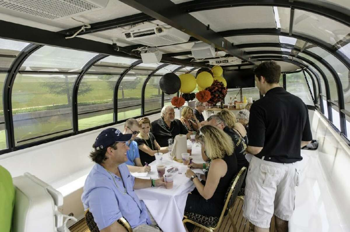Indulge in an extravagant four-course meal as the sun sets over The Woodlands Waterway.