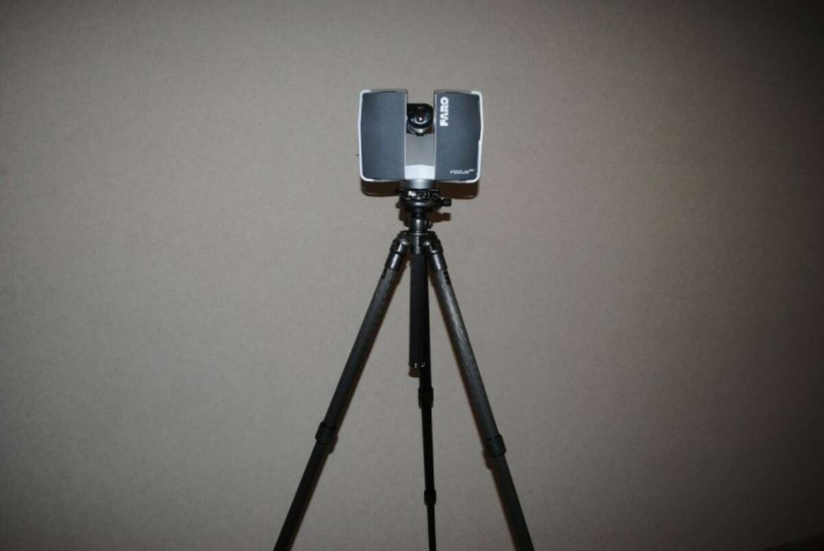 Conroe police recently purchased this FARO Focus3D Scanner that captures 3D crime scene photos.